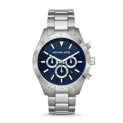 MICHAEL KORS  Silver Layton Chronograph Men's Watch