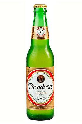 Presidente Beer 355ml Bottles in a 24 Pack