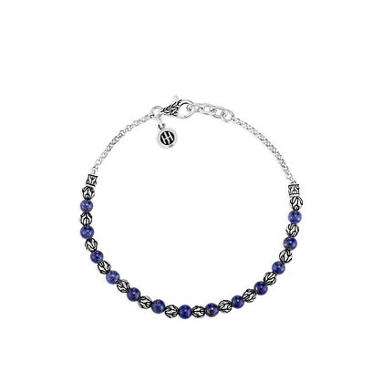 JOHN HARDY Classic Chain 4mm Lapis Lazuli Bead Bracelet M 2mm