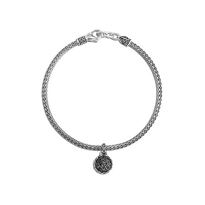 JOHN HARDY Classic Chain Round Charm Bracelet, Black Sapphire and Spinel