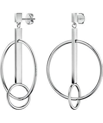CALVIN KLEIN 'Insync' Stainless Steel Drop Earrings