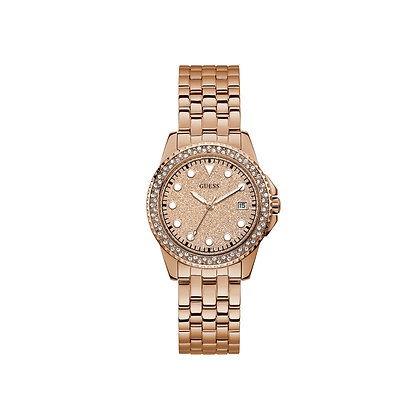 GUESS SPRiTZ CRYSTAL WOMEN'S WATCH Rose Gold Dial