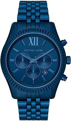 MICHAEL KORS  Lexington Navy Blue-Tone Aluminum Men's Watch