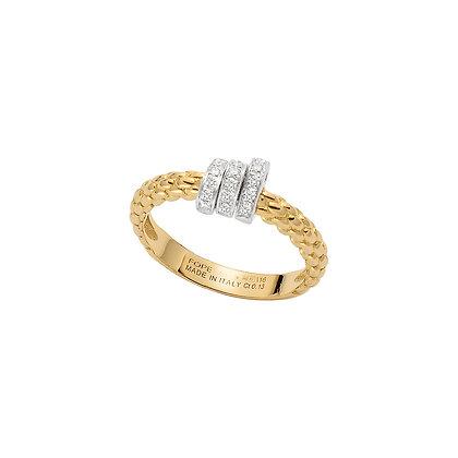FOPE Prima ring with diamond PAVE
