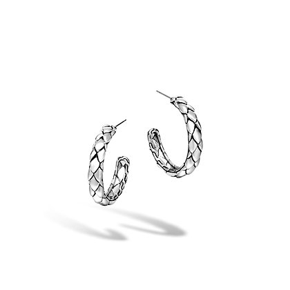JOHN HARDY Legends Cobra Silver Small Hoop Earrings