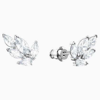 SWAROVSKI Louison Stud Pierced Earrings, White, Rhodium plated