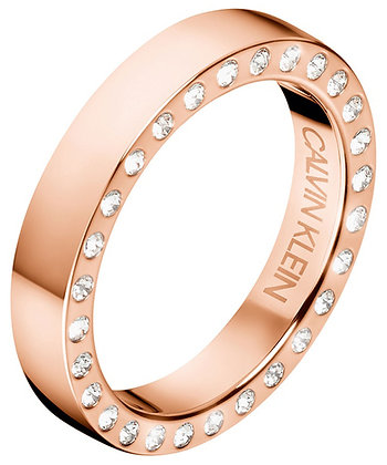 CALVIN KLEIN Hook Stainless Steel rose gold Ring
