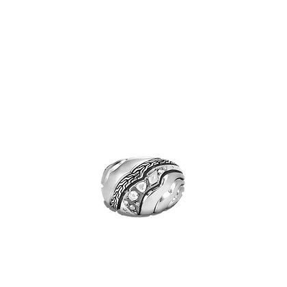 JOHN HARDY Dome Ring with Diamonds SZ 7