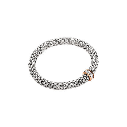 FOPE Love Nest Flex'it bracelet with diamonds