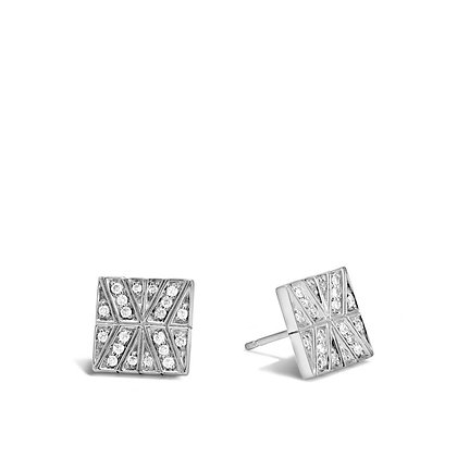 JOHN HARDY Modern Chain Stud Earring with Diamonds