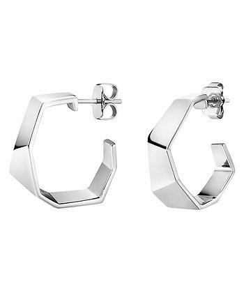 CALVIN KLEIN Origami Small Brass Earrings