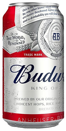 Budweiser 355ml Cans in a 24 Pack