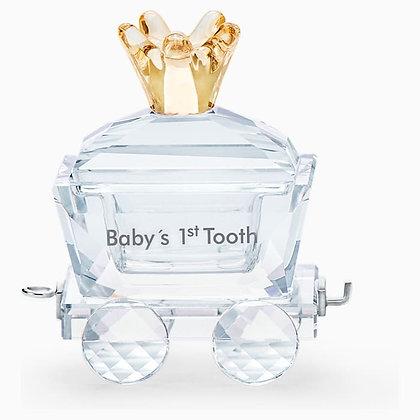 SWAROVSKI New Baby's 1st Tooth Wagon