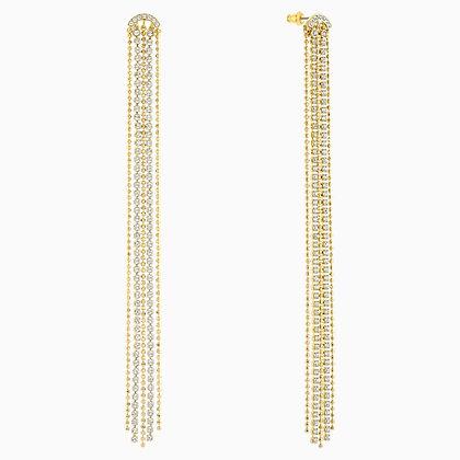 SWAROVSKI Fit Pierced Tassell Earrings, White, Gold-tone plated