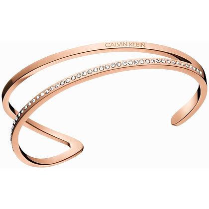 CALVIN KLEIN Outline Stainless steel Rose Gold Bracelet