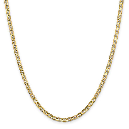QG 14K Yellow Gold 3.75mm CONCAVE ANCHOR CHAIN