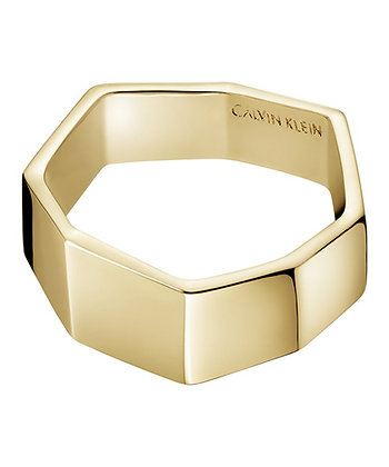 CALVIN KLEIN Origami Brass Gold Ring