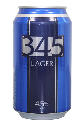 345 Lager 335ml Cans in a 24 Case