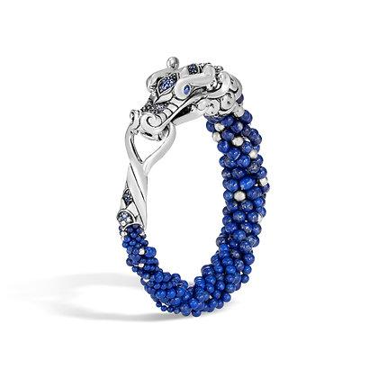 JOHN HARDY Legends Naga Sil Multi Row Br Lapis Lazuli Beads Blue Sapphire