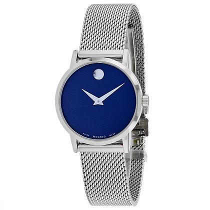 MOVADO Women's Museum Classic Blue Mother of Pearl Dial