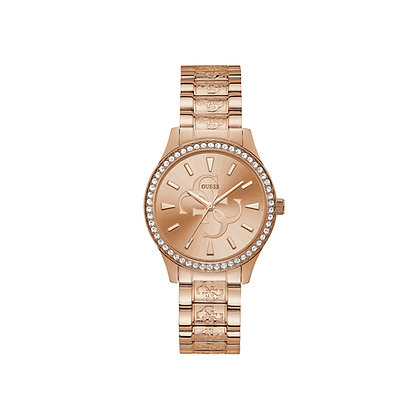 GUESS ANNA WOMEN'S WATCH Rose Logo Dial With G Pattern