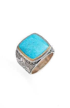 Konstantino Square Turquoise Ring