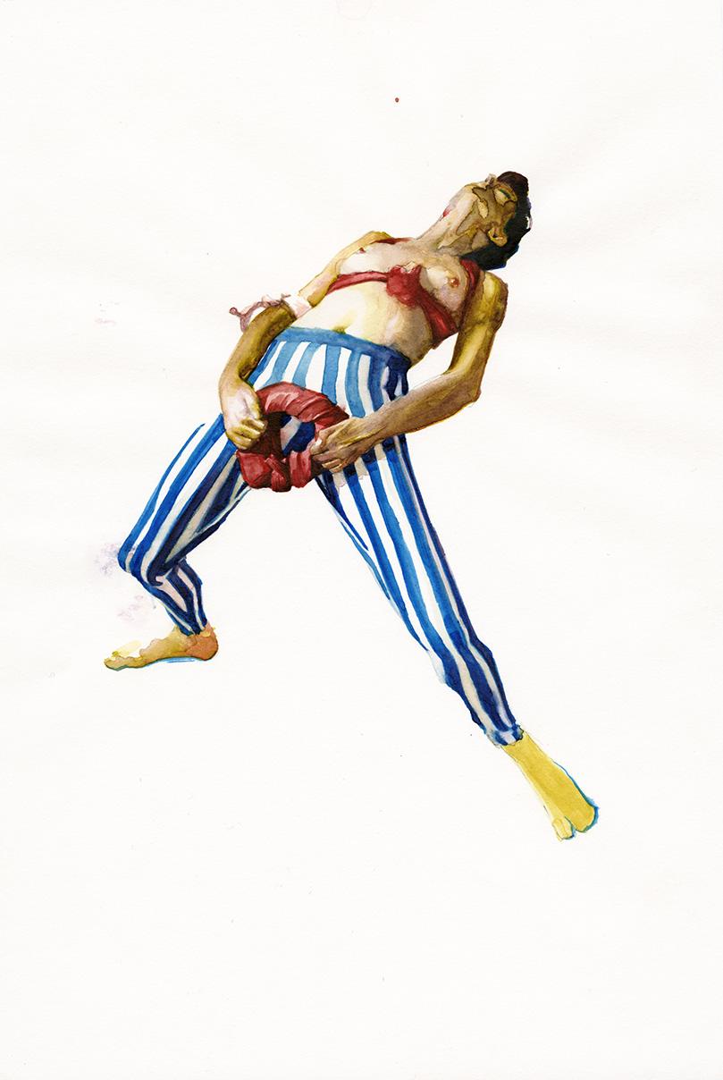 Sheela na gig (stripes)