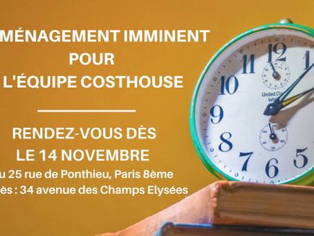 Déménagement imminent pour l'équipe Cost House France