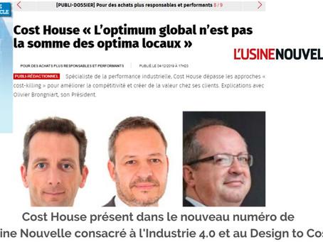 Cost House détaille les bénéfices du Design to Cost dans le magazine l'Usine Nouvelle