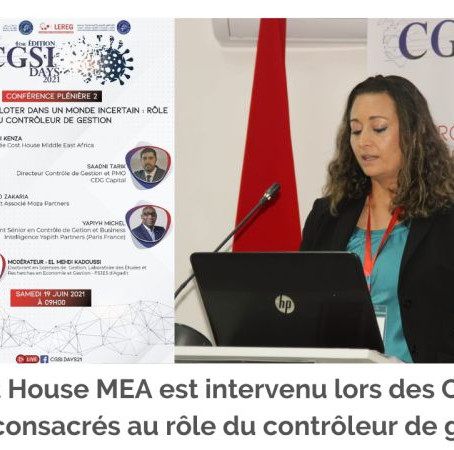 Cost House Middle East Africa intervient aux CGSI DAYS