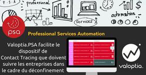 Valoptia.PSA facilite la mise en place du dispositif de Contact Tracing pour les entreprises