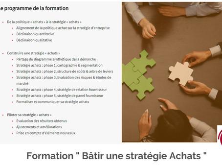 """Inscrivez-vous à la formation """" Bâtir une stratégie Achats """" !"""