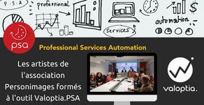 Nos consultants forment les artistes de l'association Personimages à l'outil Valoptia.PSA
