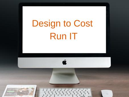 Le Design to Cost appliqué au Run applicatif IT