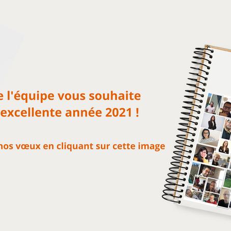 Toute l'équipe vous souhaite une excellente année 2021 !