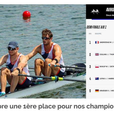 Encore une 1ère place pour nos champions d'aviron !