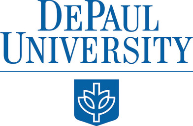 DePaul logo SECONDARY configuration (746