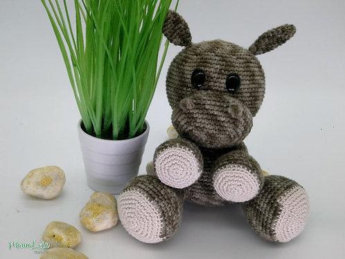 Mini Kuschel Hippo