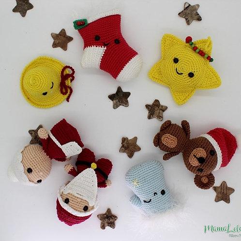 Weihnachtliche Anhänger/Baumschmuck SET 3