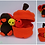 Thumbnail: Truthahnbaby mit Kürbis - Materialpaket