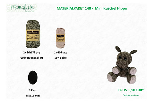 Mini Kuschel Hippo - Materialpaket