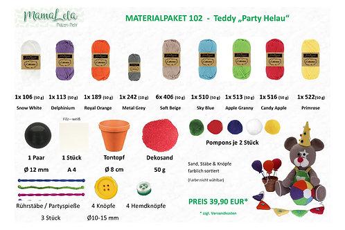"TEDDY ""Party - Helau"" - Materialpaket"