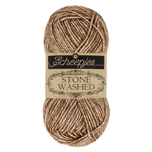Scheepjes Stone Washed - 822 Brown Agate