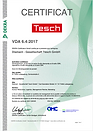 Qualitätszertifikat VDA 6.4 französisch der Diamant- Gesellschaft Tesch GmbH