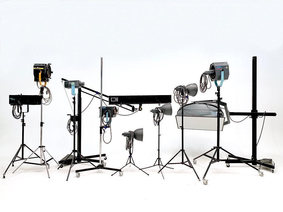 Lichtzubehör für ein Videodreh oder Fotoshooting der Werbefotografie Blühdorn GmbH Fellbach Stuttgart.