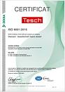 Qualitätszertifikat ISO 9001:2015 französisch der Diamant- Gesellschaft Tesch GmbH