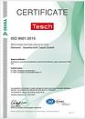Qualitätszertifikat ISO 9001:2015Qualitätszertifikat ISO 9001:2015 englisch der Diamant- Gesellschaft Tesch GmbH