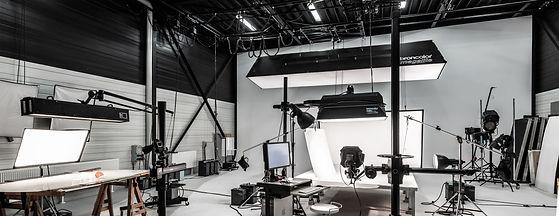 Innenaufnahme des Studios der Werbefotografie Blühdorn GmbH Fellbach Stuttgart.