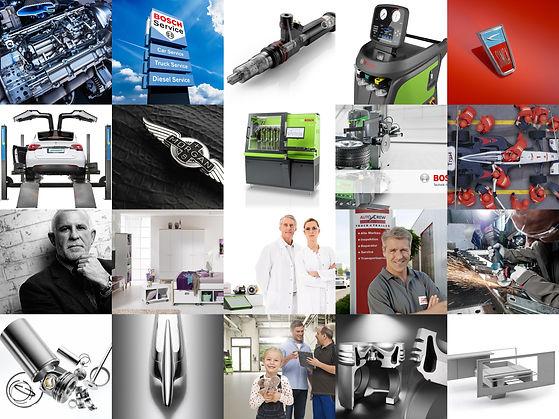 Collage ausgewählter Aufnahmen und Produktfotos der Werbefotografie Blühdorn GmbH Fellbach Stuttgart.