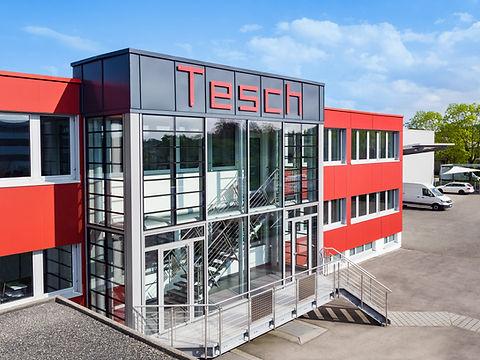 Luftbildaufnahme eines Gebäudeteil der Diamant- Gesellschaft Tesch GmbH